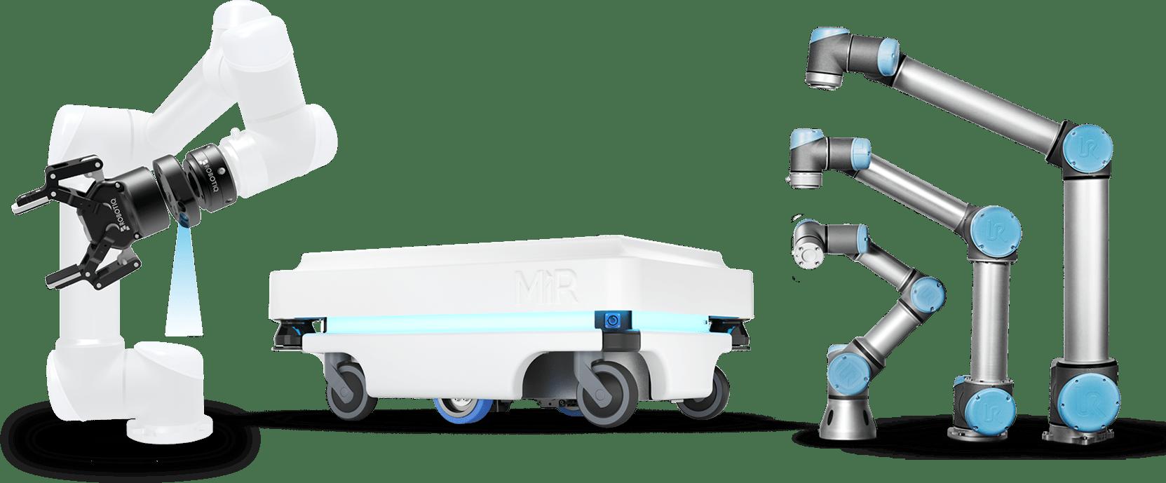 קולקציה של רובוטים שיתופיים המשווקים על ידי SU-PAD ישראל